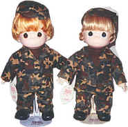 Military Dolls in Fatigues