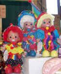 Glad, Mad & Sad Clown Dolls